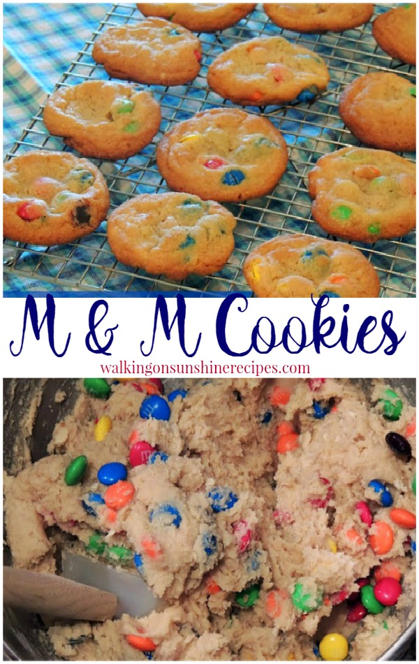 M&M Cookies from Walking on Sunshine Recipes