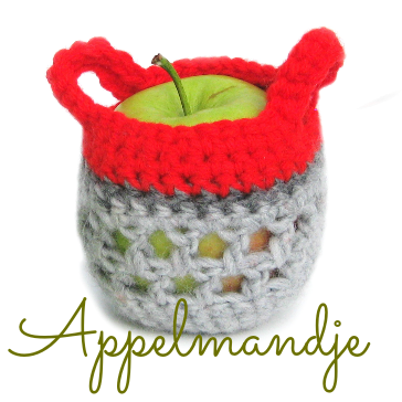 Appelmandje haken - apple cozy