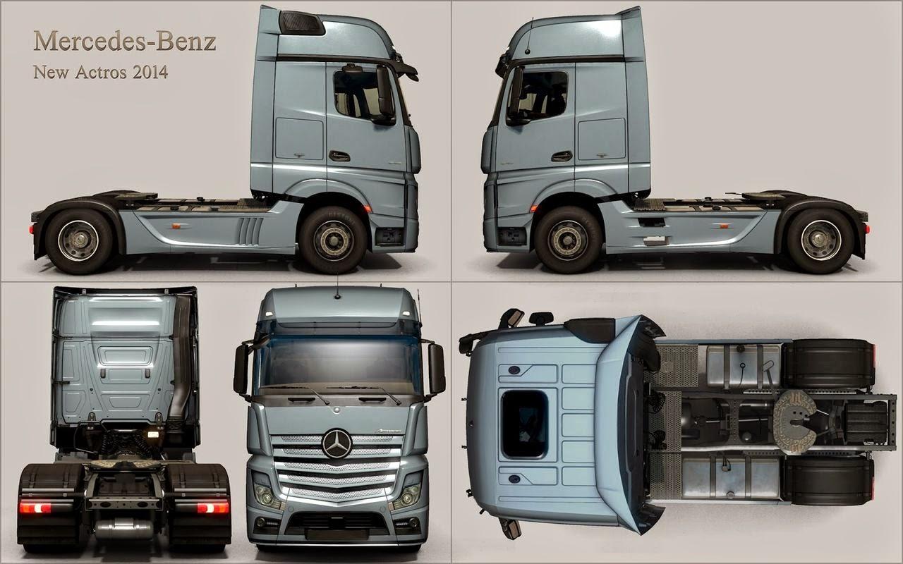 mercedesbenz yakında euro truck simulator 2 garajında