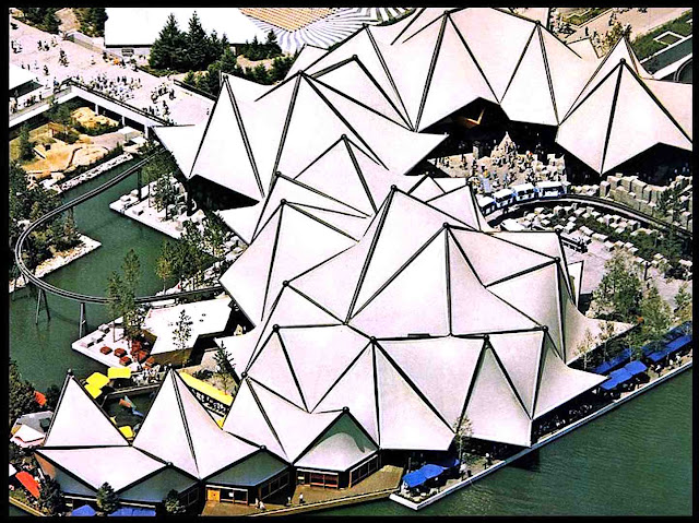 Expo 67 Ontario pavilion from above