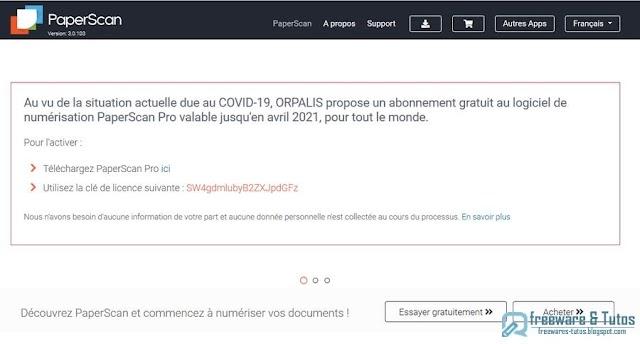 Offre promotionnelle : PaperScan Pro gratuit !