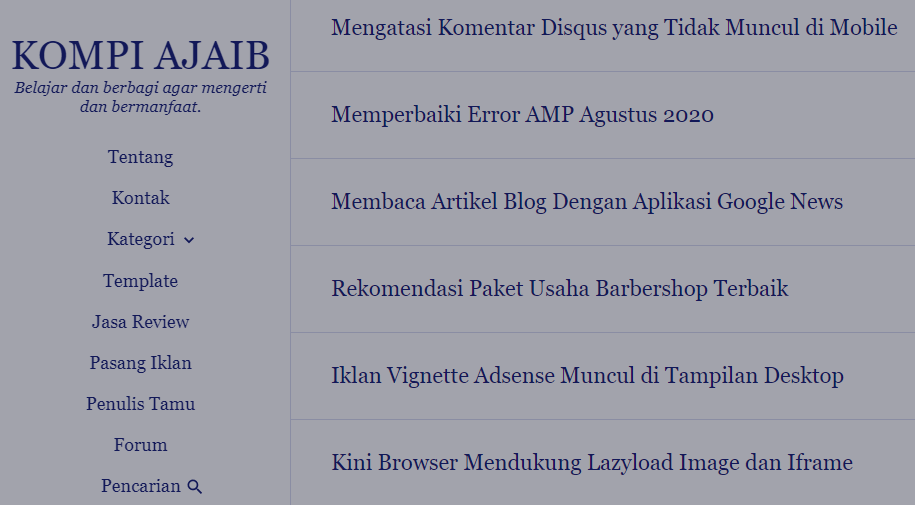 Review Template Premium Kompi Ajaib Yang Legendaris