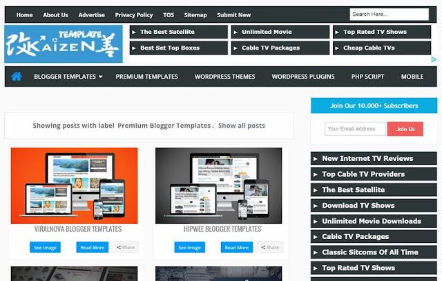 Kaizen-Template-Blogger 付費範本整理 + 建議事項