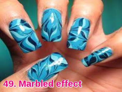 Marbled effect