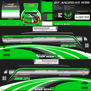 Livery Bussid Subur Jaya SHD JB3 Green Alive