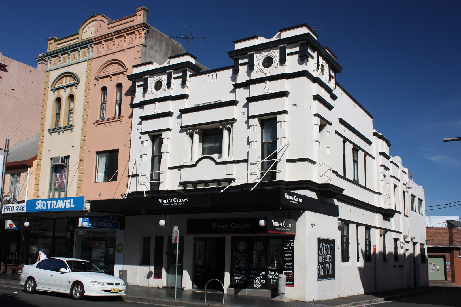These heritage listed buildings are located along King Street on the corner of Whateley Street in the inner city suburb of Newtown. & Sydney - City and Suburbs: February 2016
