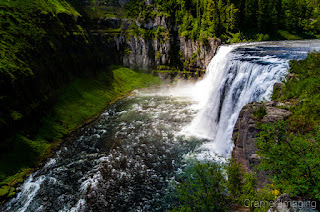 Cramer Imaging's professional quality landscape photograph of Upper Mesa Falls on the Snake River near Harriman State Park, Idaho