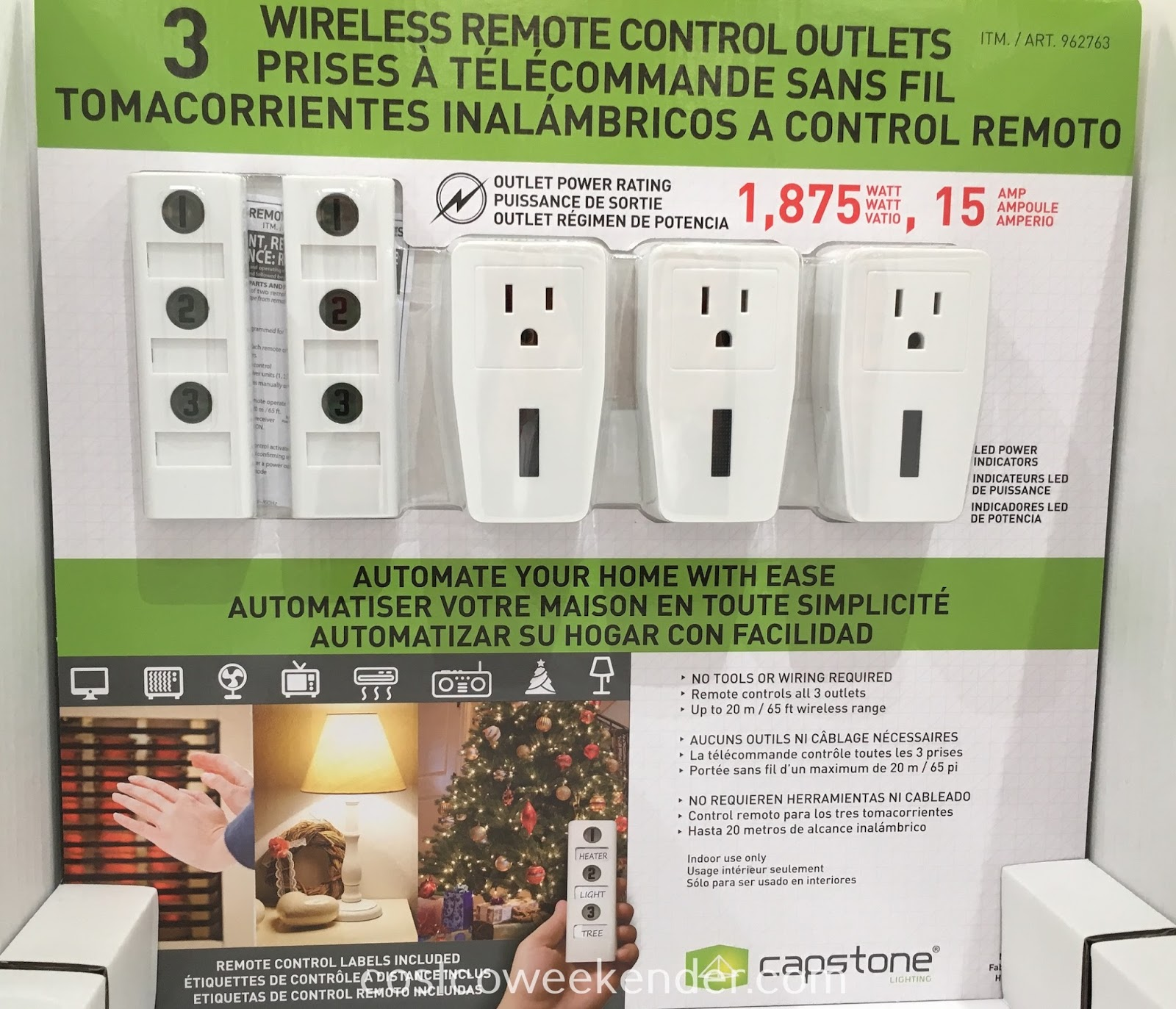 Automate your home with ease with the Capstone Lighting Wireless Remote Control Outlets