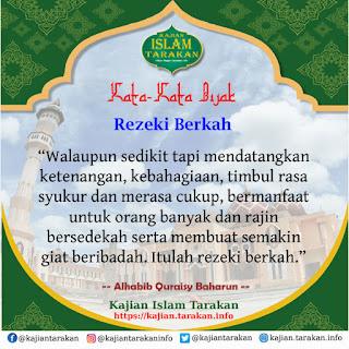 Rezeki Berkah - Qoutes Kajian Islam Tarakan