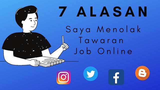 7 alasan menolak tawaran job online