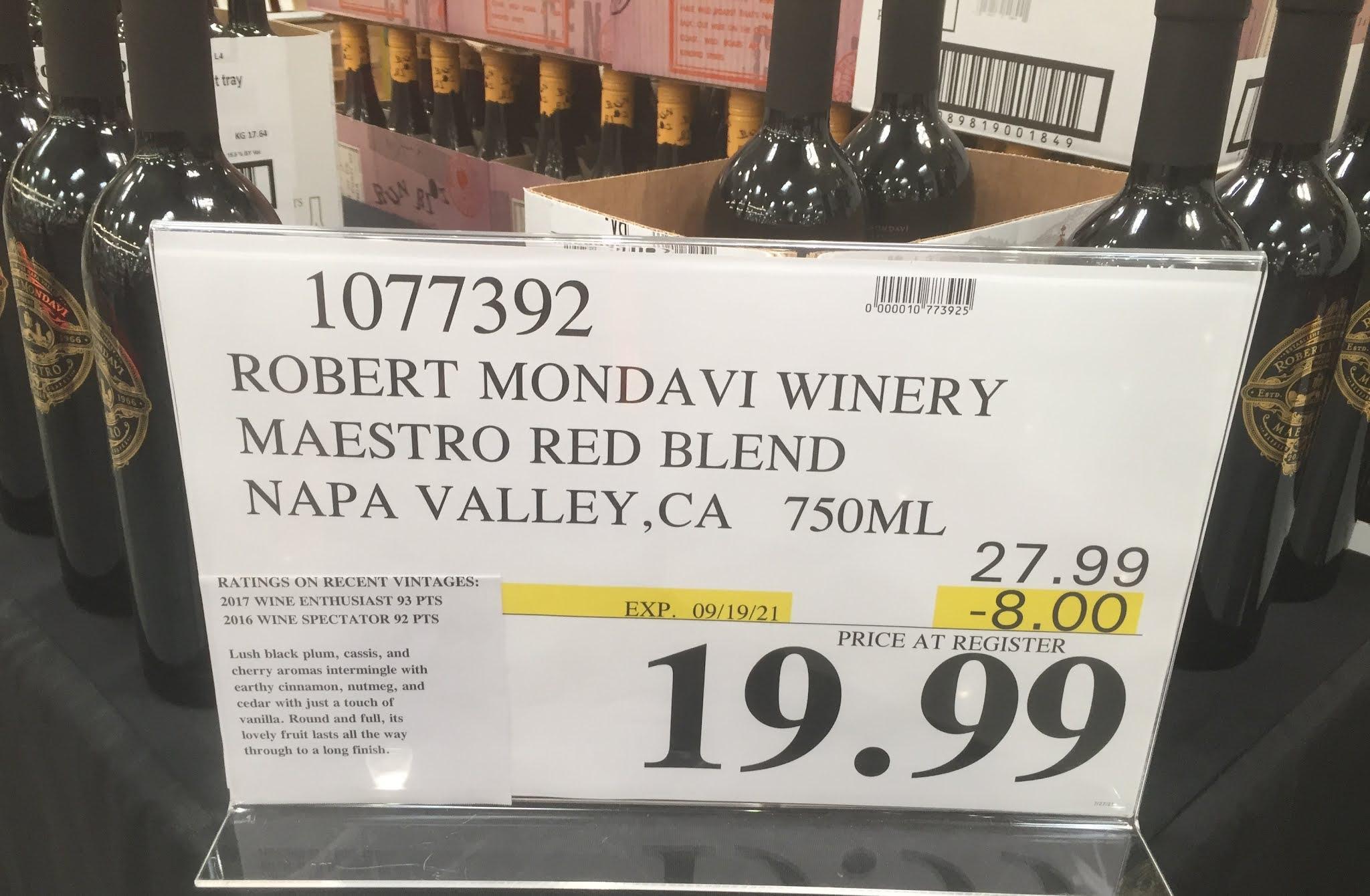 Deal for a bottle of Robert Mondavi Maestro wine at Costco