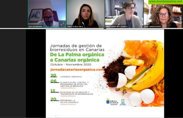 La gestión sostenible de los residuos centra la segunda sesión de las Jornadas 'De La Palma Orgánica a Canarias Orgánica'