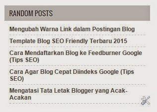 Kode Widget Random Posts Fast Loading untuk Blog