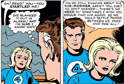 the Reed Richards, Sue Storm, Namor, love triangle, sub-mariner