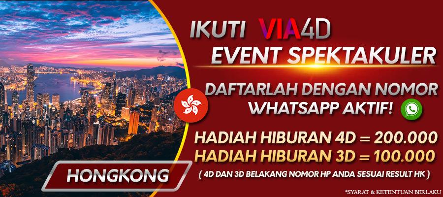 Via4D - Giveaway Malam Minggu Pasaran Hongkong - Daftar Sekarang