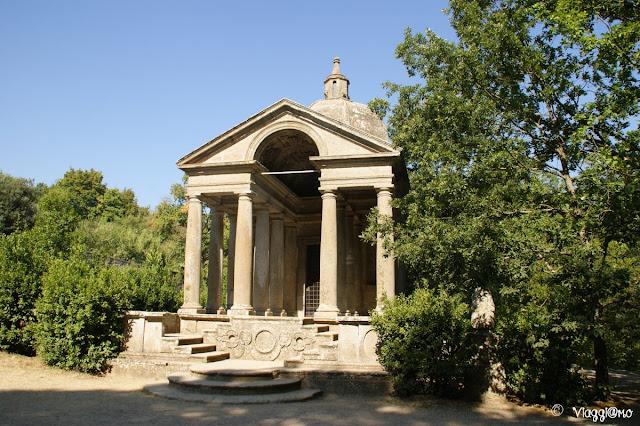 Il Tempio nella radura, ultima struttura del Sacro Bosco