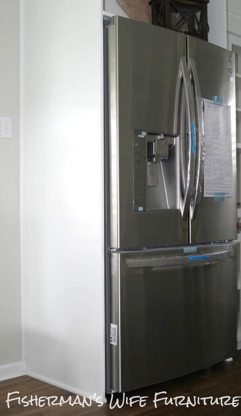 Fisherman S Wife Furniture Diy Refrigerator Enclosure