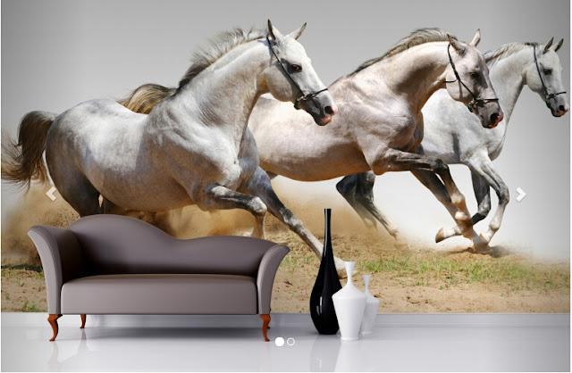 djur tapet hästar fototapet tjejtapet