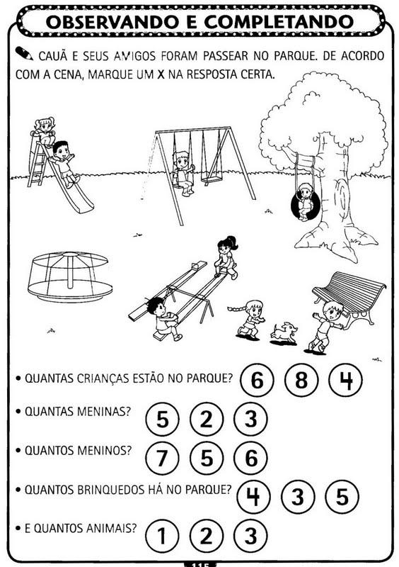 Muito Atividades de matemática para Educação Infantil - Atividades  HB11