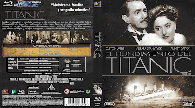 Carátula Blu-ray: El hundimiento del Titanic (1953) - Dvd cover