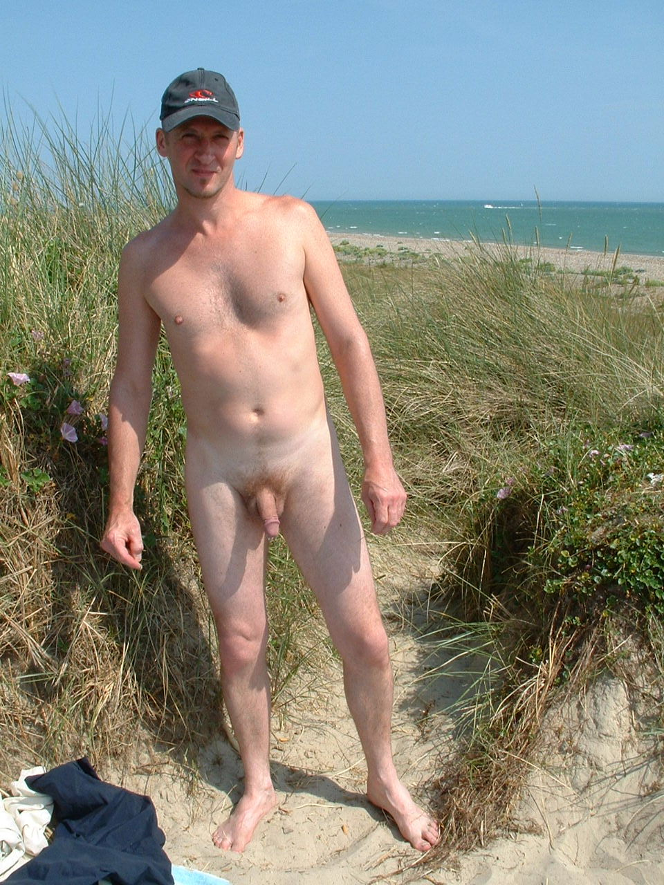 Nude male exhibitionist