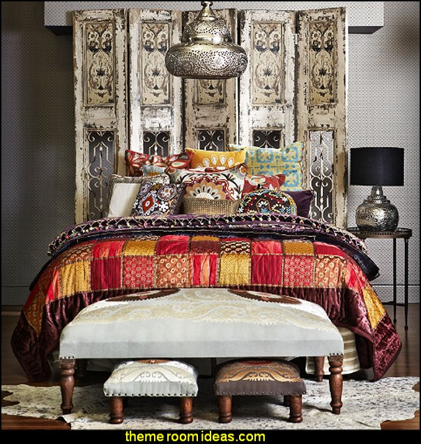 Exotic eclectic ethnic global style decorating