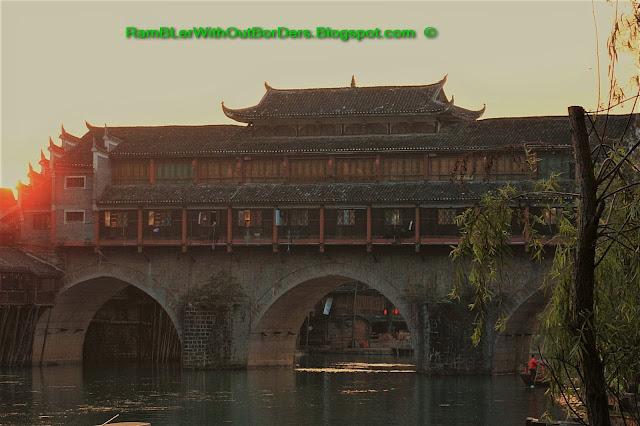 Rainbow Bridge, Riverside, Phoenix Fenghuang County, Hunan, China