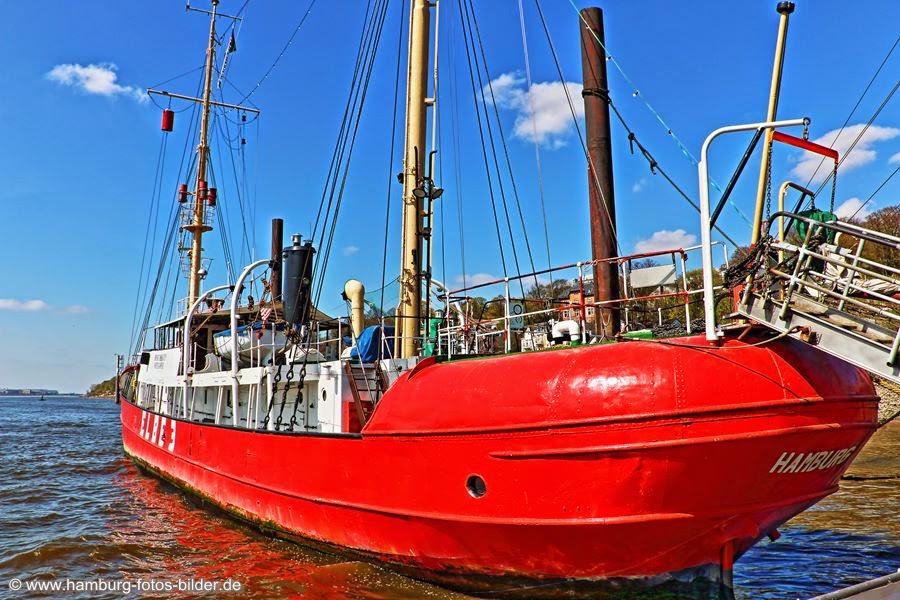 Feuerschiff Elbe 3 im Museumshafen Oevelgönne Hamburg