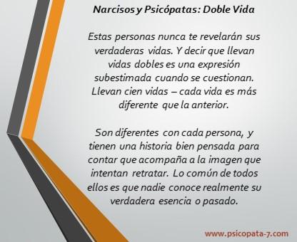 """""""Narcisos y Psicópatas: Doble Vida"""" - Imagen"""