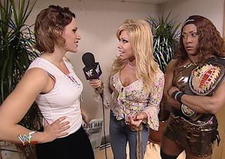 WWF Insurrexion 2002 - Terri interviews Molly Holly & Jazz