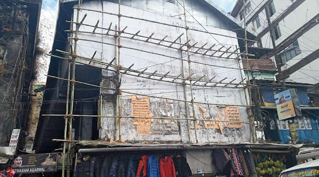 wall at Chowk Bazar in Darjeeling