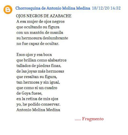 """Gracias por este """"comentario""""  ANTONIO MOLINA MEDINA"""