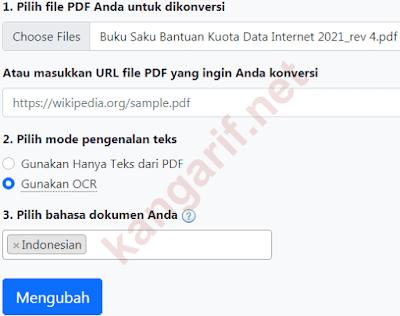 mengubah pdf ke word