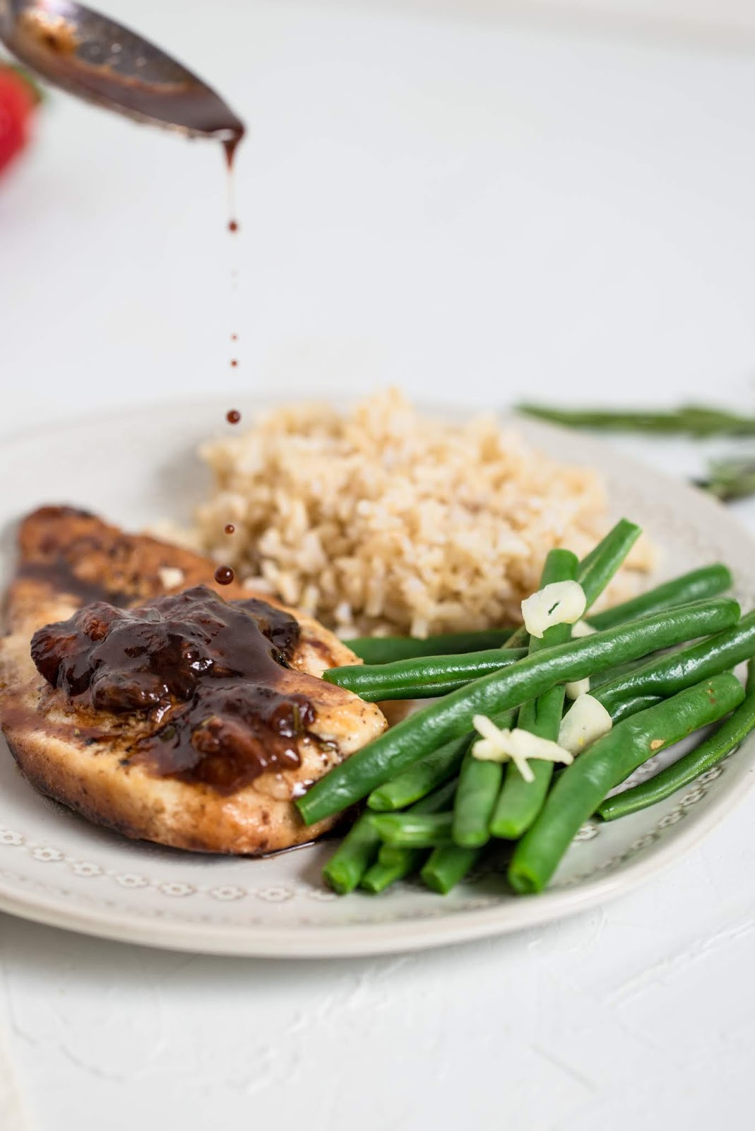 This Chicken with Strawberry-Balsamic Sauce is simple enough for a family meal, yet elegant enough to serve guests.