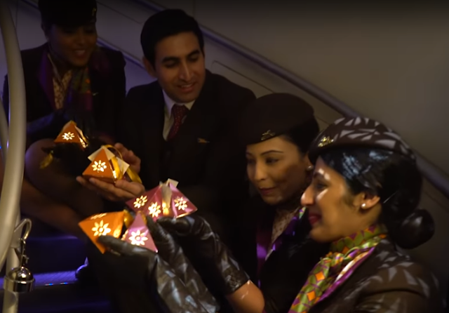 ETIHAD AIRWAYS CELEBRATES DIWALI IN THE SKY