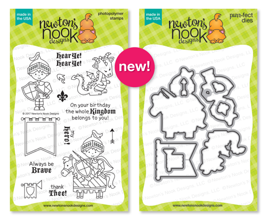 Knight's Quest| Photopolymer Stamp set & Die Set by Newton's Nook Designs #newtonsnook