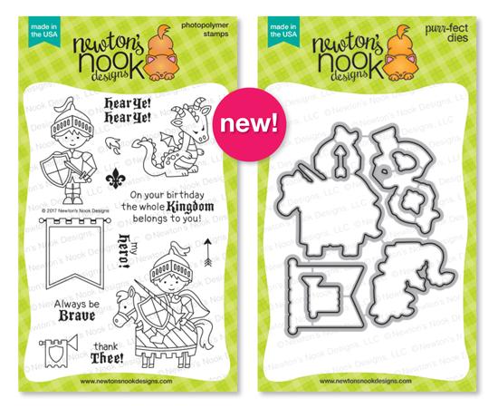 Knight's Quest| Photopolymer Stamp set & Die Set by Newton's Nook Designs #newtonsnook