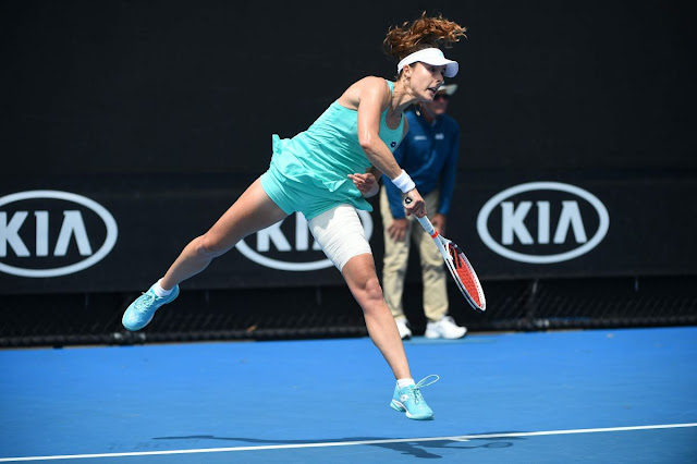 Alize Cornet At Australian Open Tennis Tournament 2018 In Melbourne