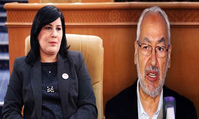 وزير الداخلية يرفض طلب راشد الغنوشي الغنوشي بالتدخّل وفض إعتصام نواب الدستوري الحر بقيادة عبير موسي