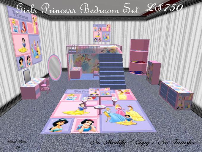 Girls princess bedroom set