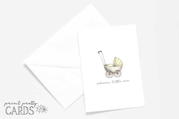 Yellow Printable Baby Shower Card