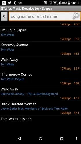 تنزيل مجاني للموسيقى تطبيقات لـ android-gtunes