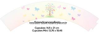 Jardín de Mariposas: Wrappers y Toppers para Cupcakes de Bodas para Imprimir Gratis.