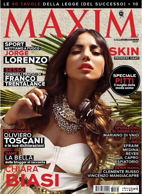 Chiara Biasi on Maxim Magazine