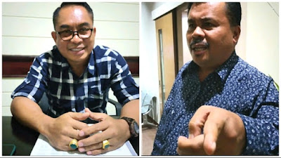 (Kiri) Anggota Komisi IV DPRD NTB, Sudirsah Sudjono. (Kanan) Anggota Komisi I, H. Najamuddin Moestafa