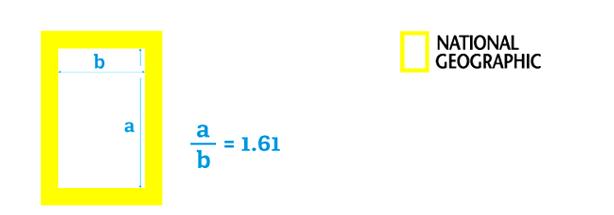 Designer gráfico de número dourado - logotipo da National Geographic