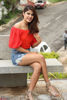 Rhea Chakraborty in Red Crop Top and Denim Shorts Spicy Pics ~  Exclusive 341.JPG