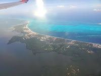 Flight over Cancun