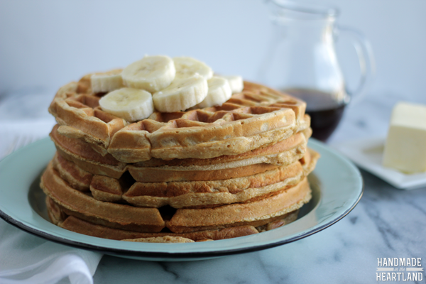 Healthy Whole Wheat Waffles Recipe