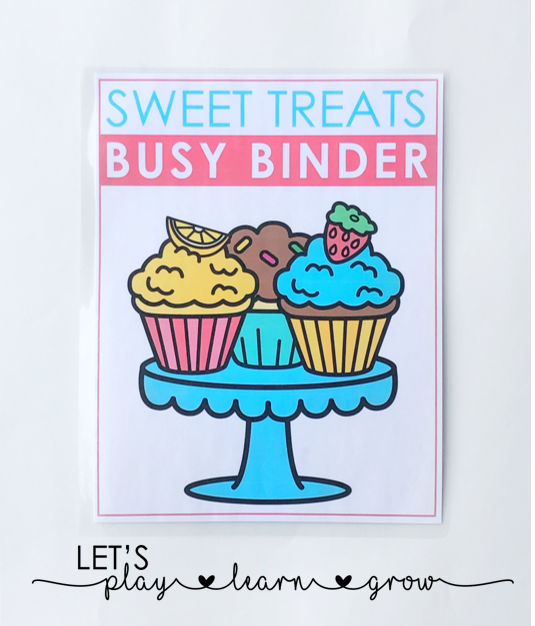 Sweet Treats Themed Activity Binder Activity Book Cover